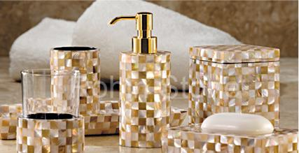 Manufacturers traders exporters of precious for White and gold bathroom accessories